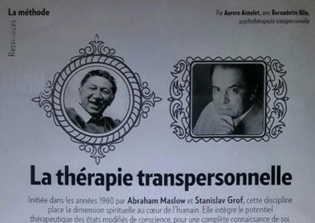 Thérapie transpersonnelle – Psychologies Magazine 12/2017